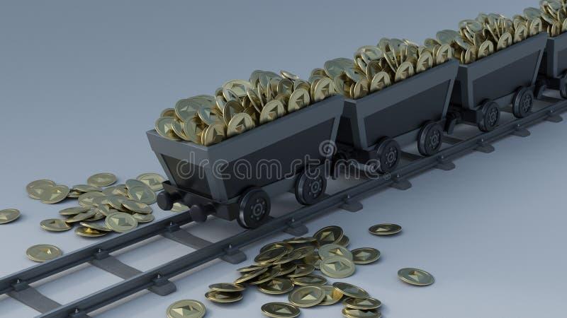crypto muntmijnbouw royalty-vrije stock afbeelding