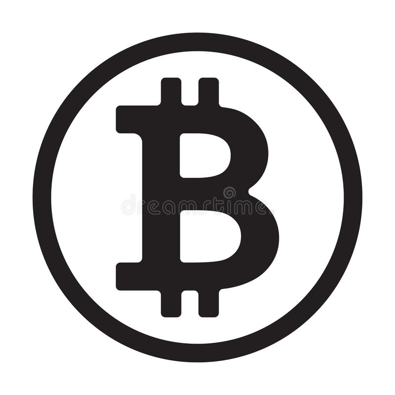 Crypto muntsymbool Vector illustratie stock illustratie