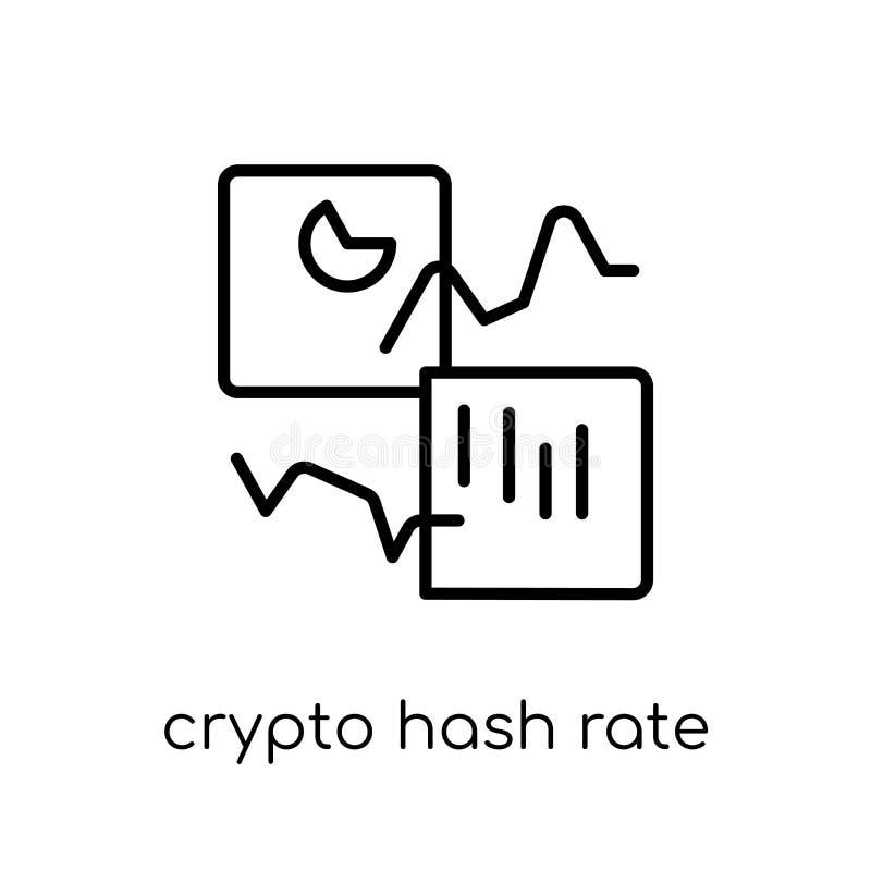 crypto pölsahastighetssymbol Crypto H för moderiktig modern plan linjär vektor vektor illustrationer