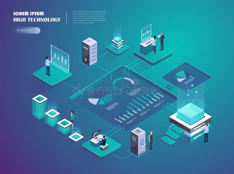 Crypto startup. Digital money market. stock illustration
