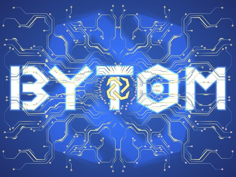 Crypto symbole monétaire illustration de vecteur