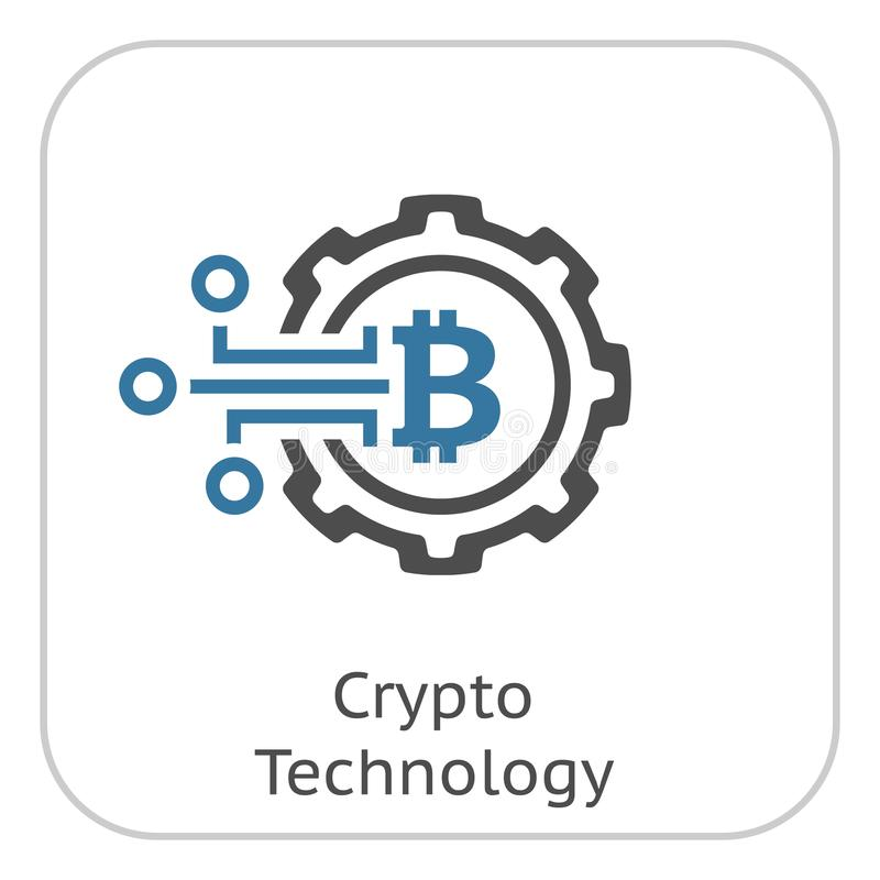 Crypto Technologiepictogram vector illustratie
