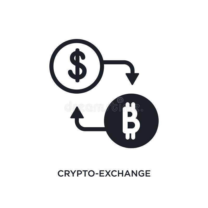 crypto-utbyte isolerad symbol enkel beståndsdelillustration från symboler för begrepp general-1 symbol för crypto-utbyte redigerb vektor illustrationer