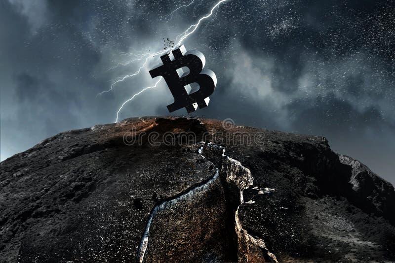 Crypto valuta överst Blandat massmedia royaltyfri bild