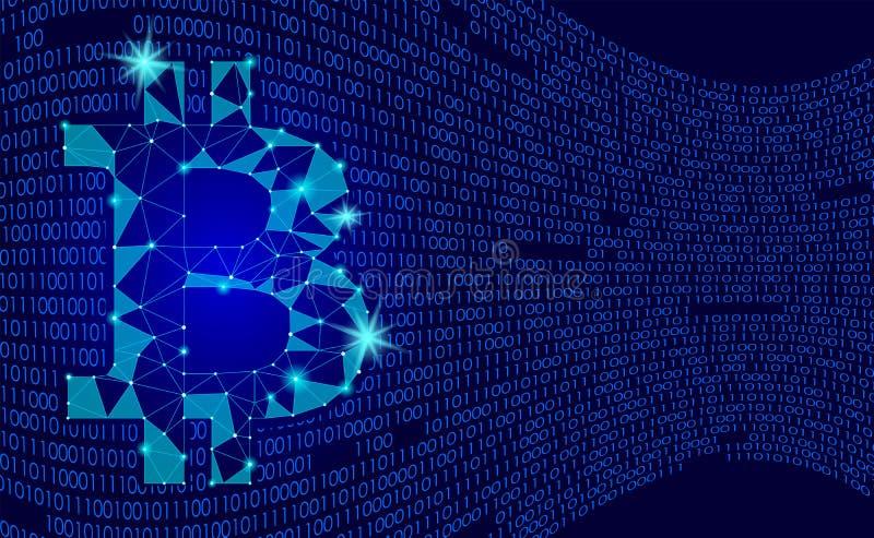 Crypto valutabitcoin Netto bankrörelsen som bryter det framtida teknologivektorbegreppet Digitalt världsomspännande för kryptogra vektor illustrationer