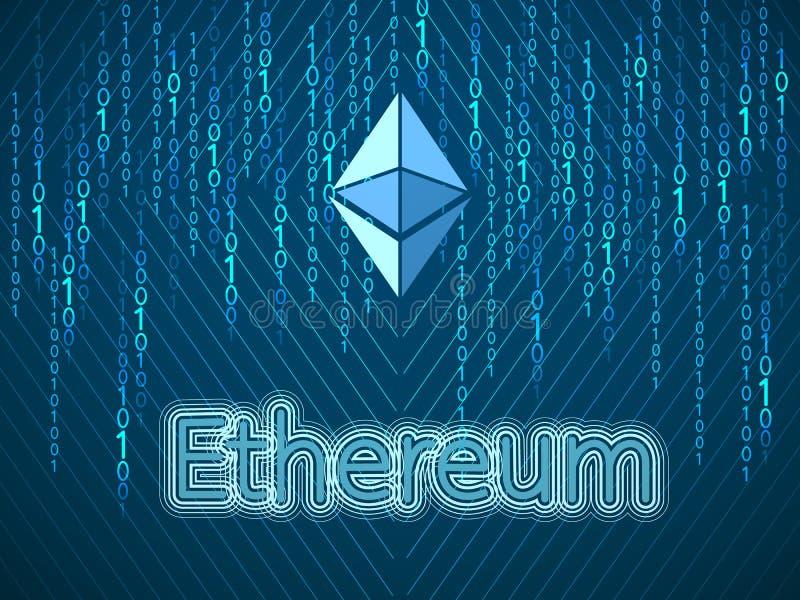 Crypto valutasymbol stock illustrationer