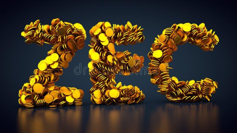 Crypto valutaZcash symbol royaltyfri illustrationer