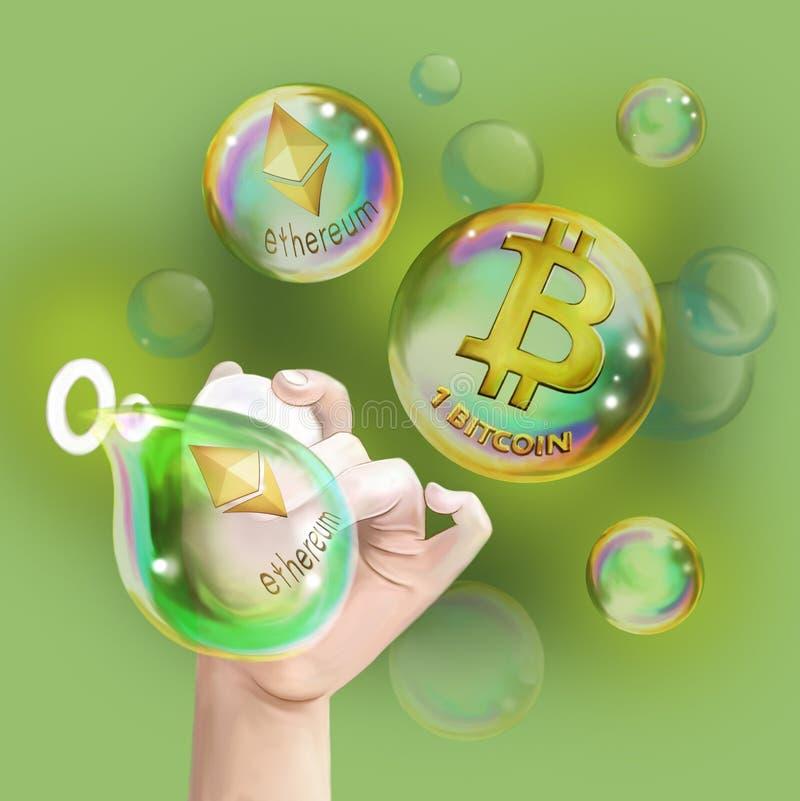 crypto-valutor vektor illustrationer