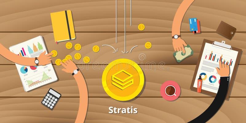 Crypto van Stratishandelsinvesteringen muntwinst stock illustratie