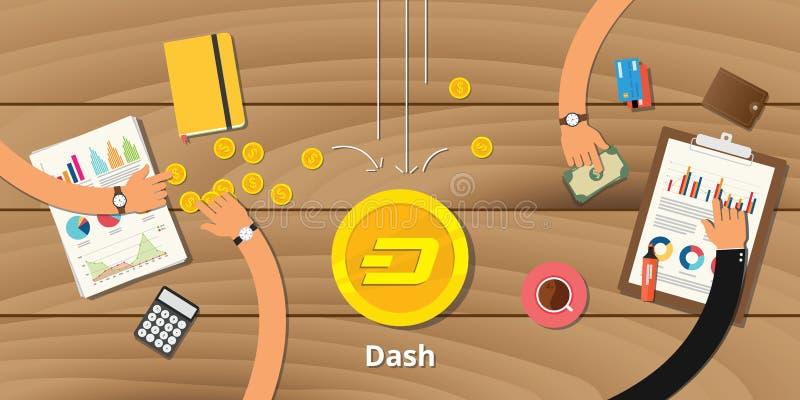 Crypto van streepjehandelsinvesteringen muntwinst stock illustratie