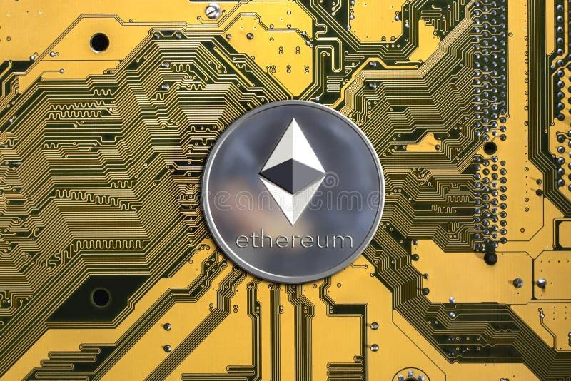 Crypto waluta Ethereum Ethereum moneta obraz stock