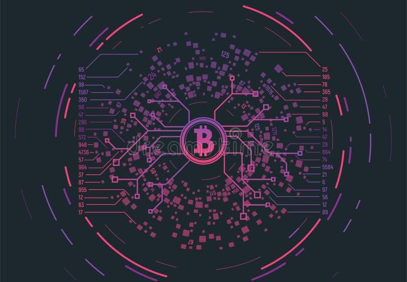 Crypto waluty pojęcie royalty ilustracja