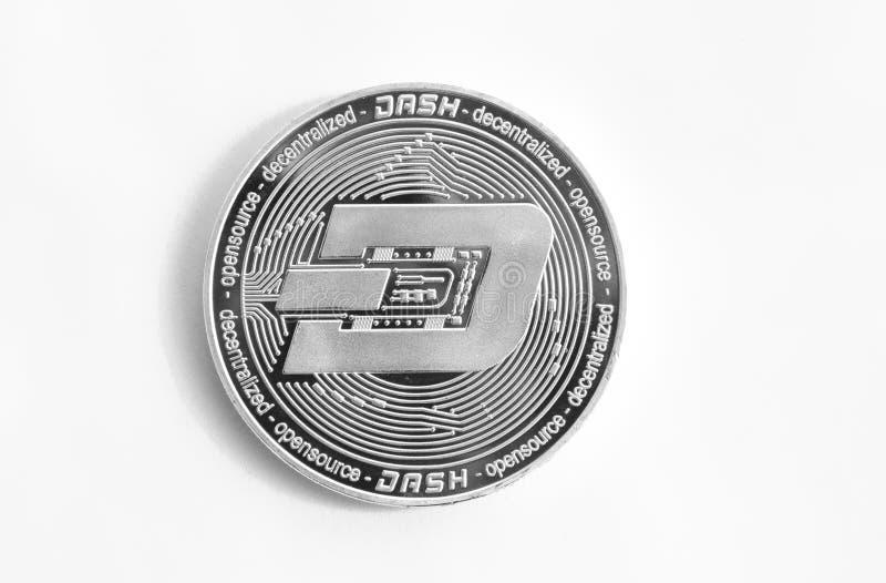 Crypto waluty srebnej monety cyfrowy junakowanie obrazy royalty free