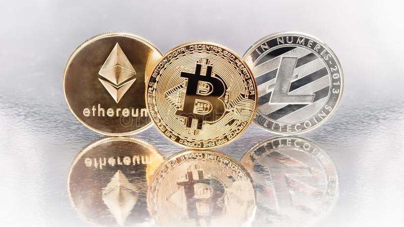 Cryptocurrencies imagem de stock