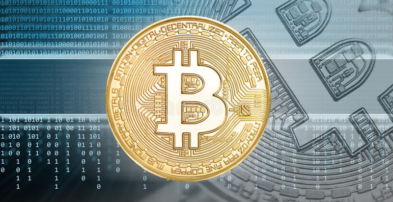 Cryptocurrencies or bitcoin concept. Binary code, technology background royalty free stock photography