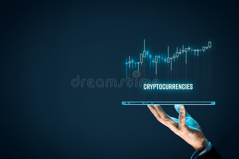 Cryptocurrencies investment stock photo
