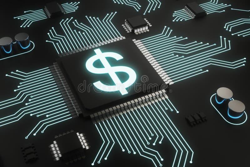 Cryptocurrency和付款conceprt 向量例证