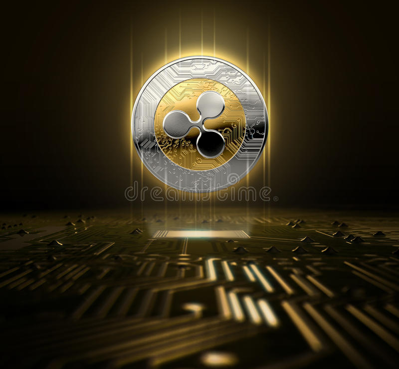 Cryptocurrency和电路板 向量例证