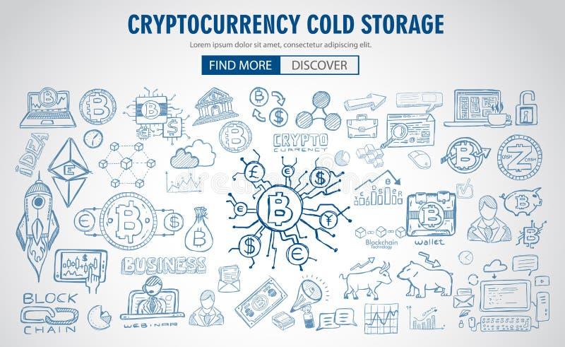 Cryptocurrency概念手拉的乱画设计喜欢:blockchai