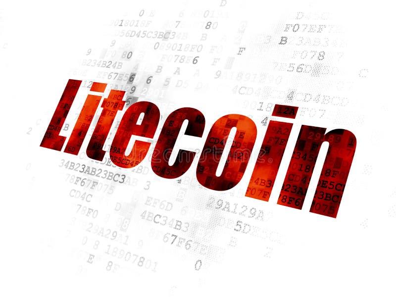Cryptocurrency概念:在数字式背景的Litecoin 免版税库存照片