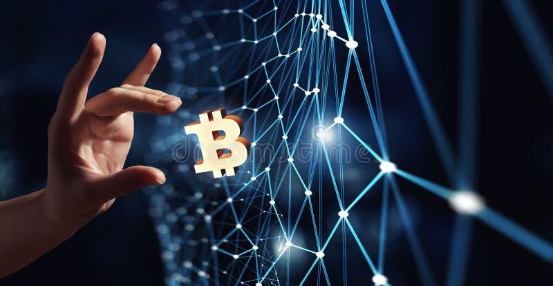Cryptocurrency背景概念 向量例证