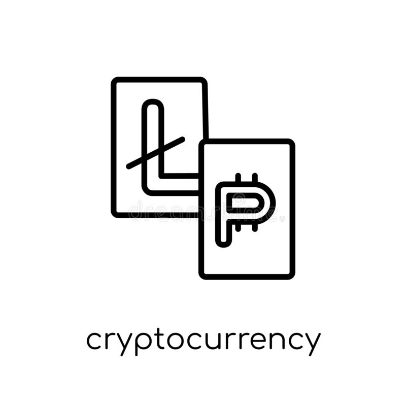 Cryptocurrency象  向量例证