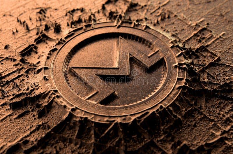 Cryptocurrency που πετά Monero απεικόνιση αποθεμάτων