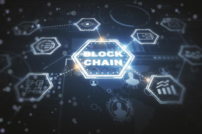 Cryptocurrency и будущая концепция иллюстрация штока