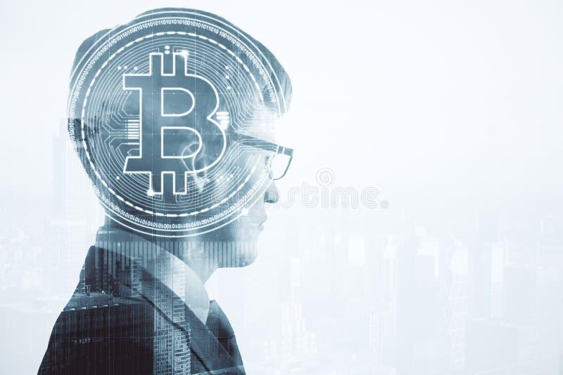 Cryptocurrency и концепция банка стоковые фотографии rf