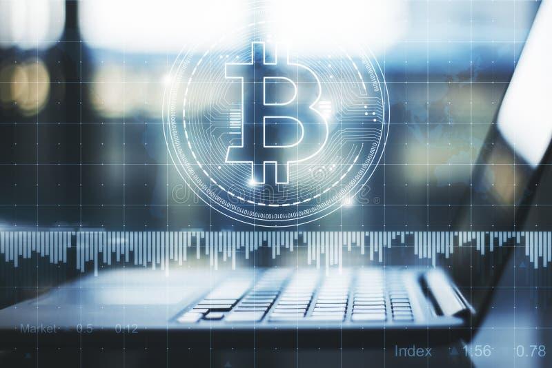 Cryptocurrency и концепция нововведения иллюстрация вектора
