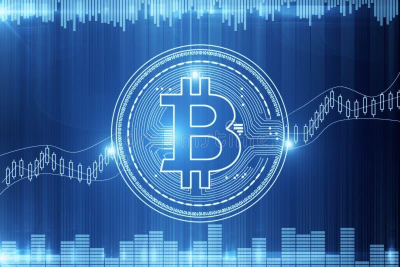 Cryptocurrency и концепция электронной коммерции бесплатная иллюстрация