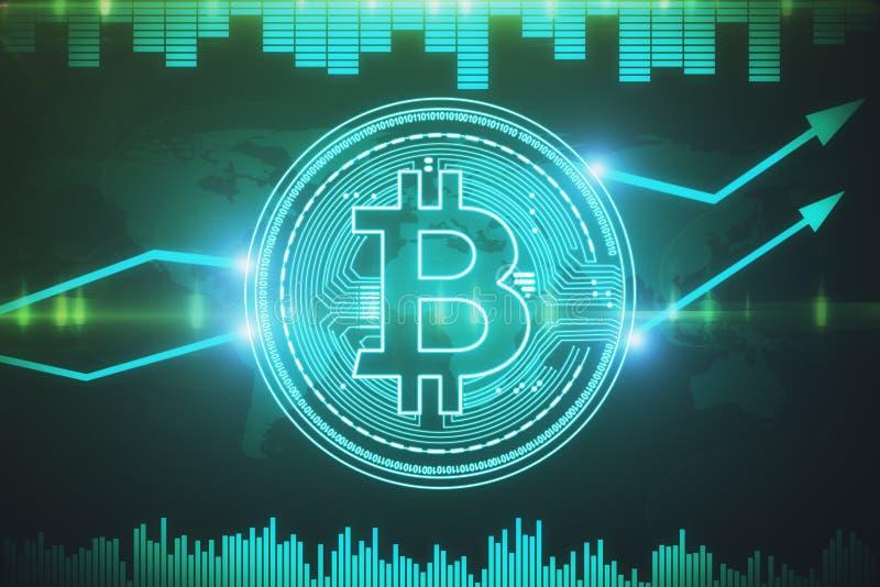 Cryptocurrency и концепция e-дела бесплатная иллюстрация