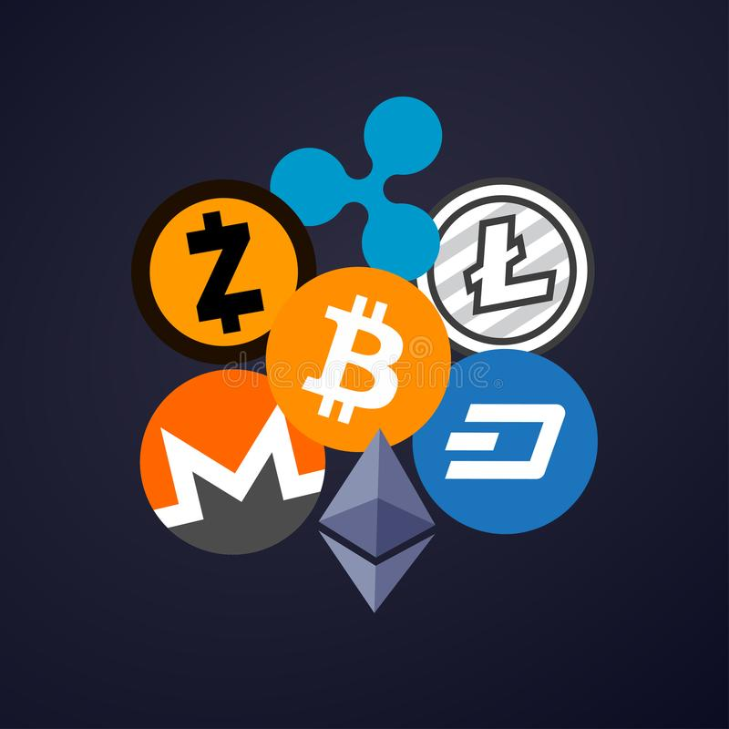Cryptocurrency libre illustration