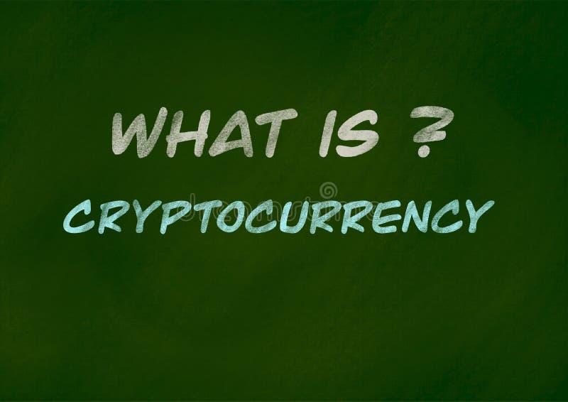 Cryptocurrency achtergrondconcept stock illustratie