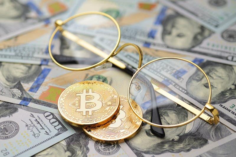 Cryptocurrency analizuje pojęcie zdjęcie stock