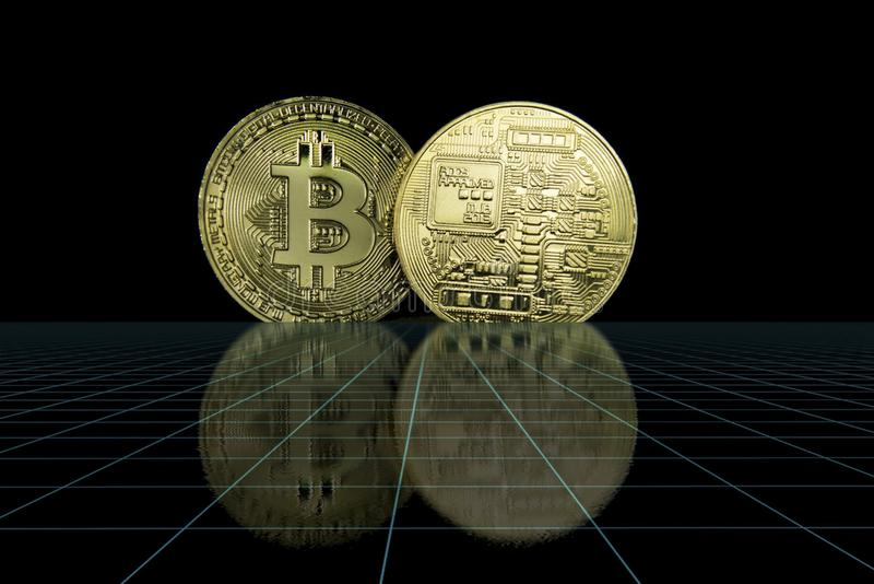 Cryptocurrency Bedrijfsconcept stock foto