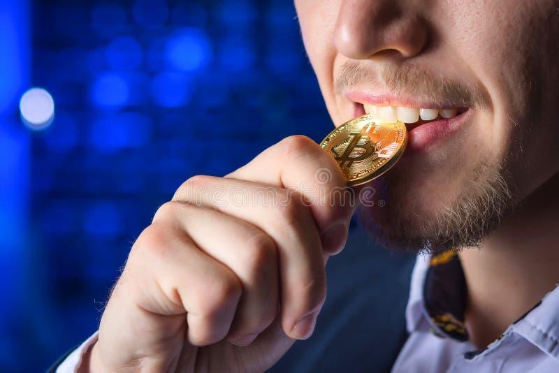 Cryptocurrency bitcoin монетки стоковое фото