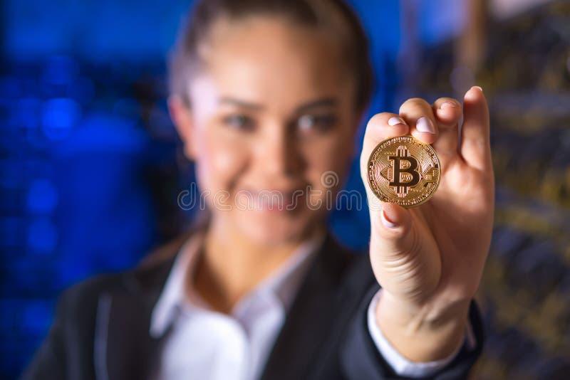 Cryptocurrency bitcoin монетки стоковые изображения