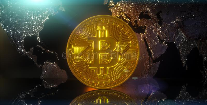 Cryptocurrency Bitcoin illustration libre de droits