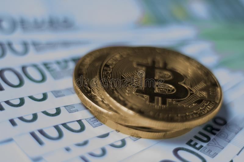 Cryptocurrency Bitcoin coin royalty free stock images