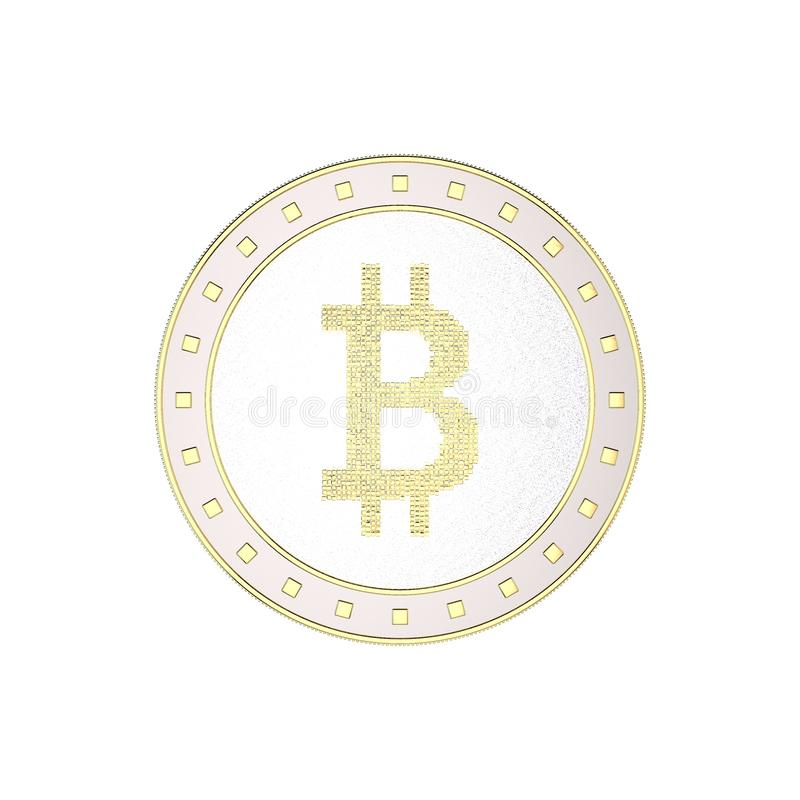Cryptocurrency bitcoin. Isolated on white background. 3D rendering illustration. Cryptocurrency bitcoin. Isolated on white background.3D rendering illustration stock illustration