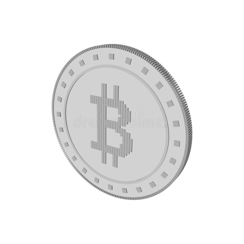 Cryptocurrency bitcoin. Isolated on white background. 3d Vector. Illustration vector illustration