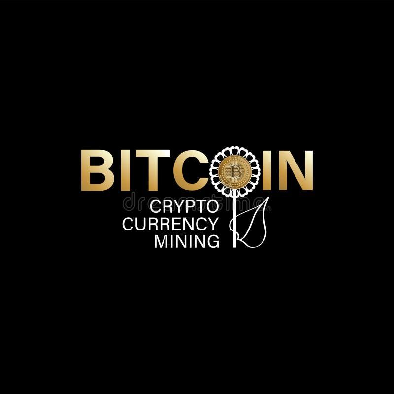 Cryptocurrency Bitcoin kolonel ilustracja wektor