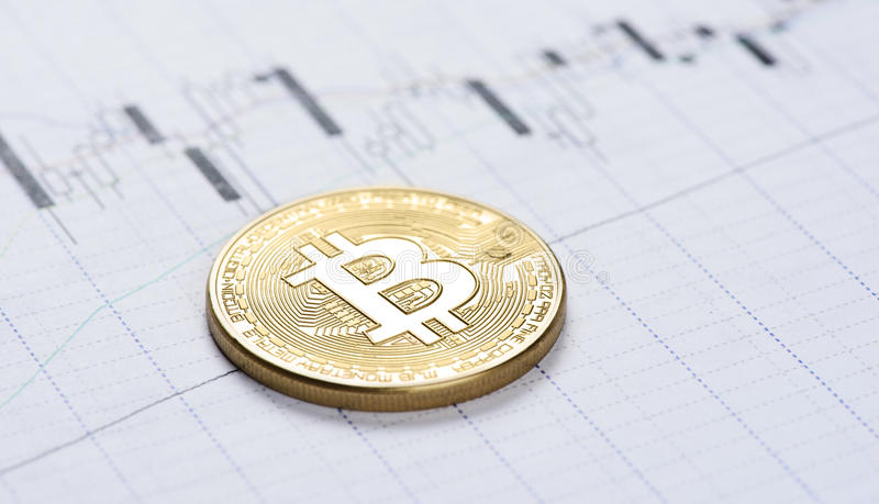 Cryptocurrency Bitcoin mynt royaltyfria bilder