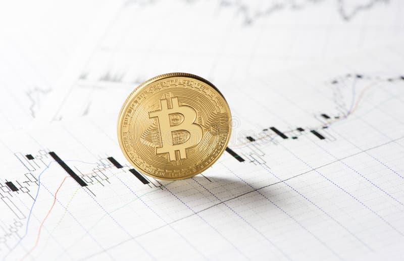 Cryptocurrency Bitcoin mynt royaltyfri fotografi