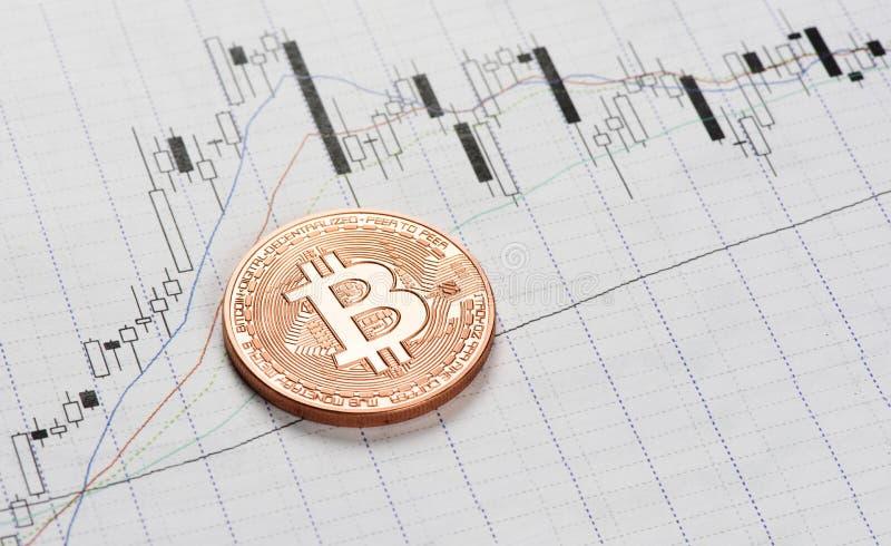 Cryptocurrency Bitcoin mynt arkivbild