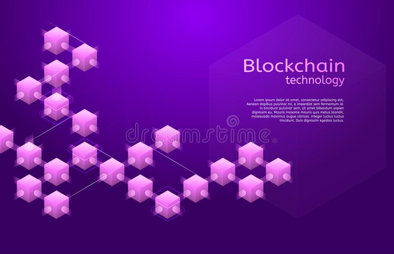 Cryptocurrency and blockchain isometric vector illustration vector illustration