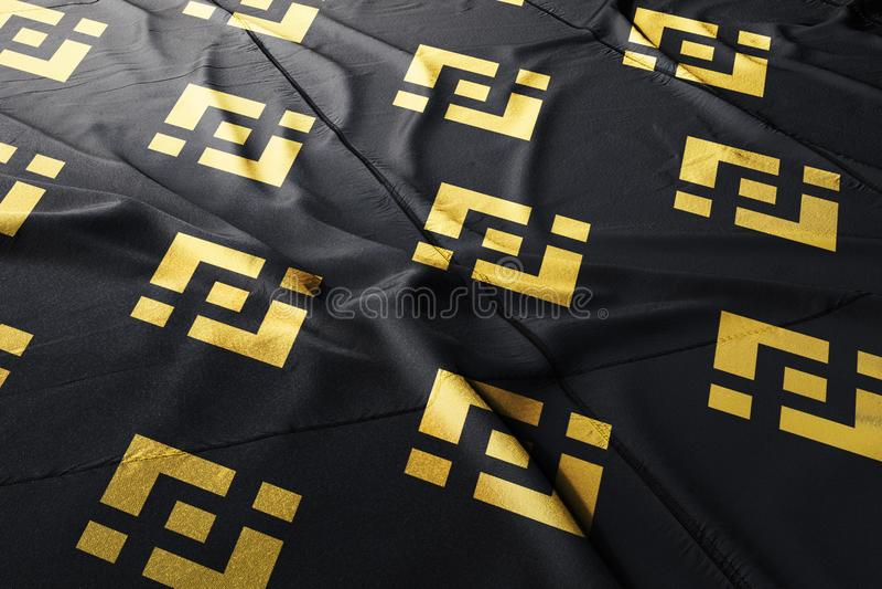 Cryptocurrency 3d Binance BNB представить флаг иллюстрация вектора