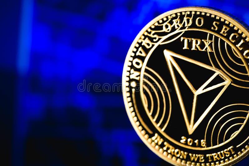 Cryptocurrency da moeda de Tron fotos de stock royalty free