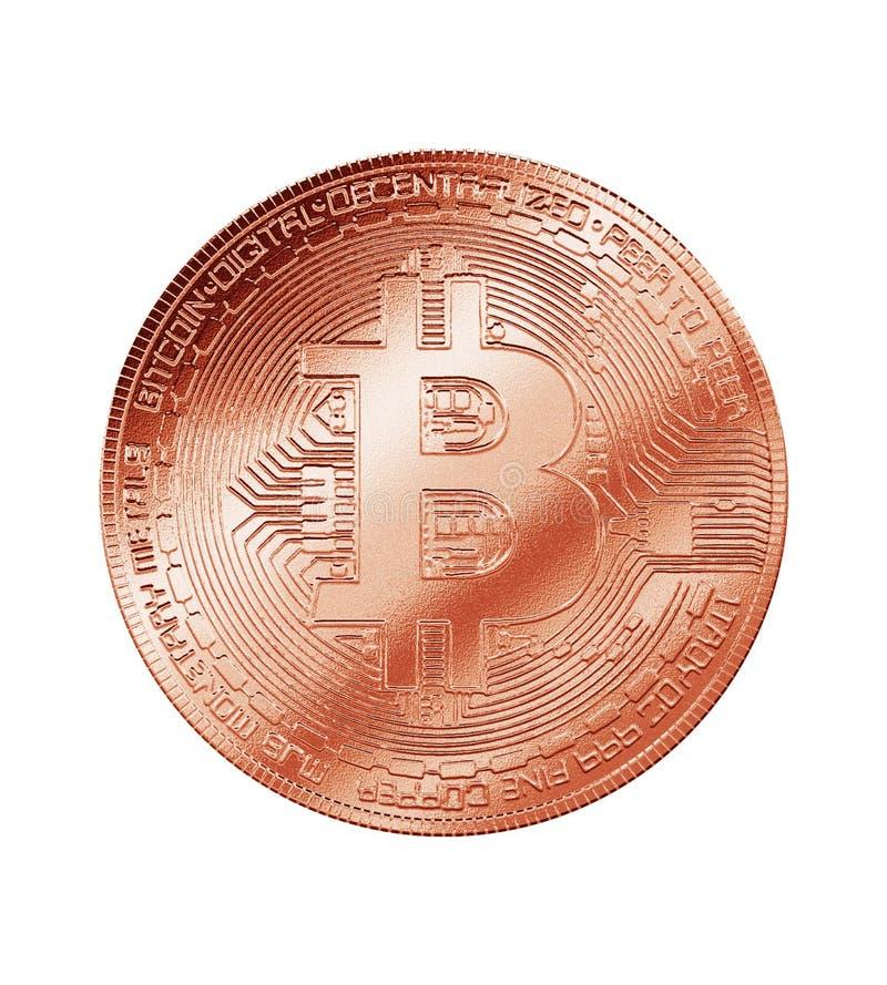 Cryptocurrency da moeda do bronze do cobre de Bitcoin ilustração royalty free